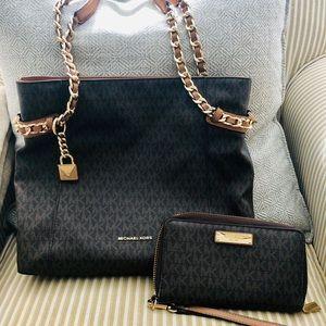 Michael Kors Bag & Wallet set (brown)